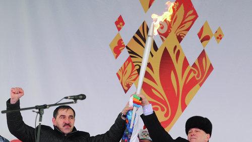 Эстафета олимпийского огня завершилась в Ингушетии